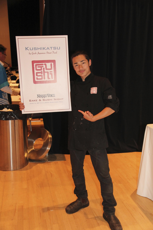 Shinji Yamaguchi at the Nikkei Voice Sake and Sushi Night. Photo by: Scott Kawaguchi.