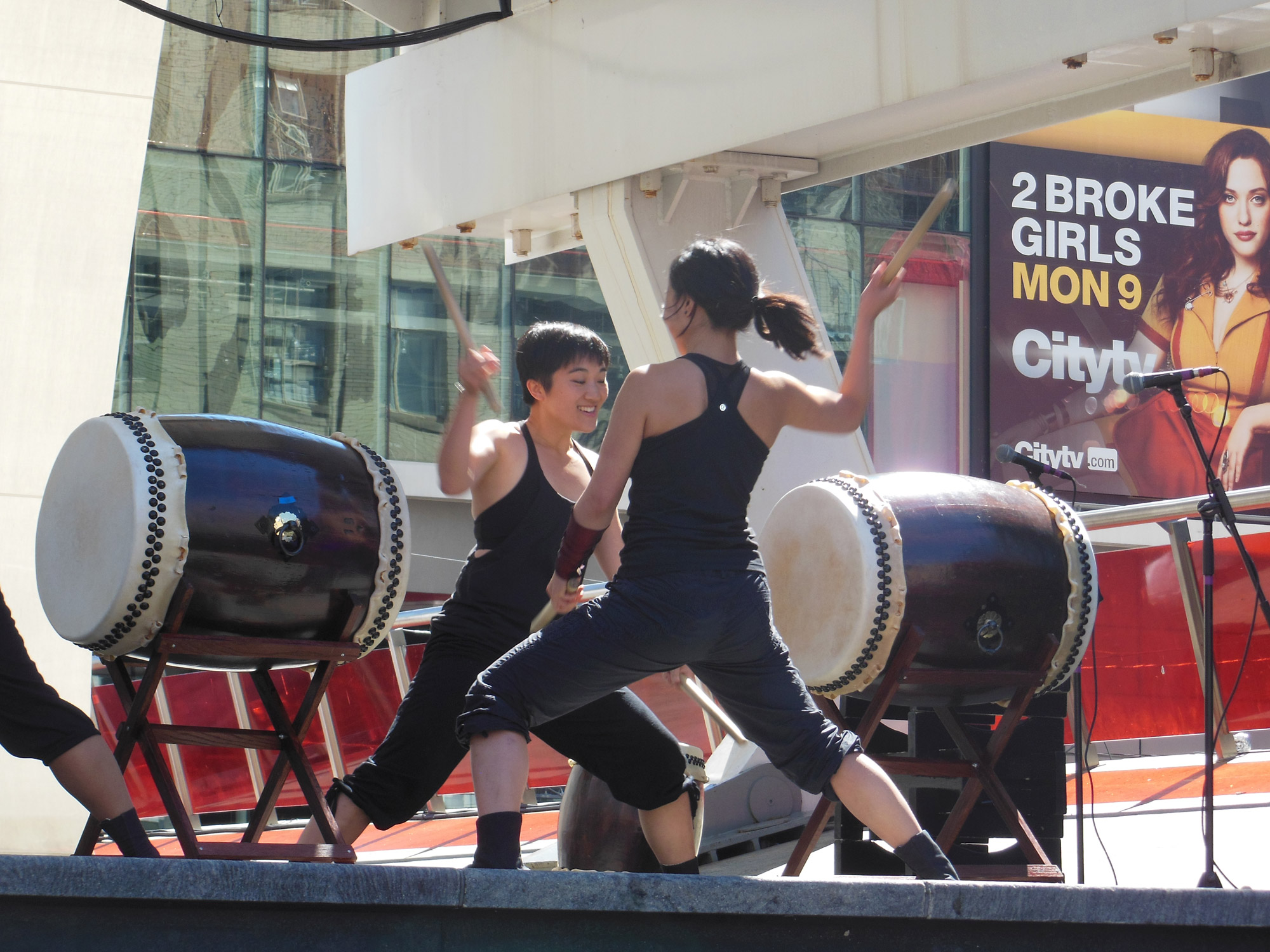 A opening performance by RAW Taiko Drummers