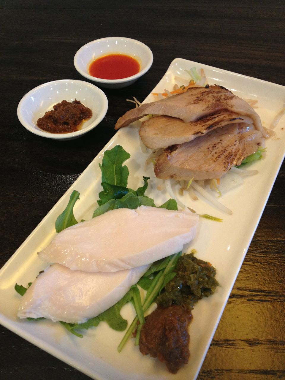 Japanese Chashu with sauce.