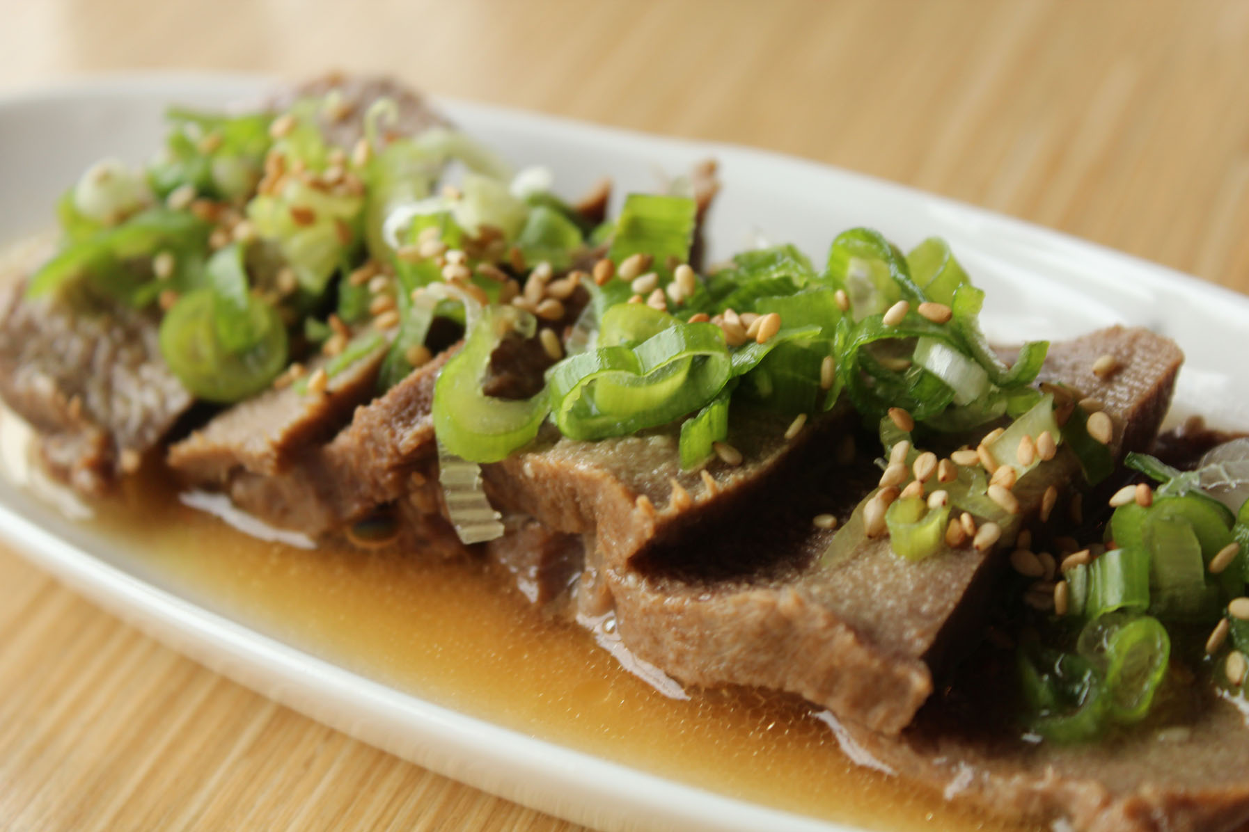 Braised Beef Tongue Shio [Photo Courtesy: Kaori Fujishima]