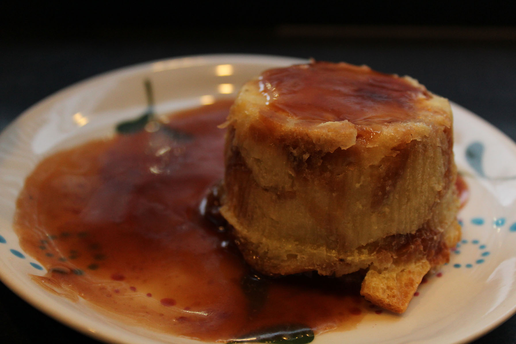 Bread & Butter Pudding with Toffee Sauce $4.00 [Photo courtesy: Kaori Fujishima]