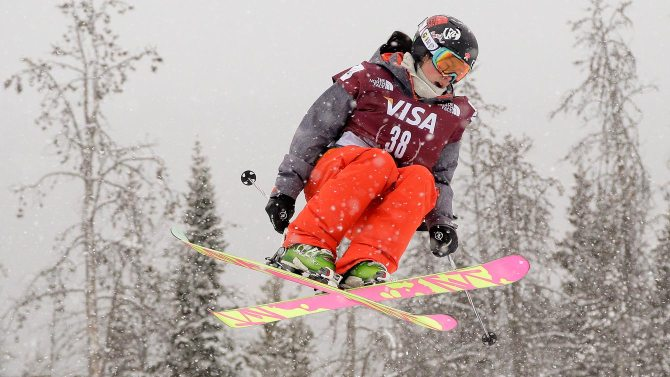 Yuki Tsubota, seen here, catching some air on the slopes. Photo courtesy: Canadian Olympic Committee